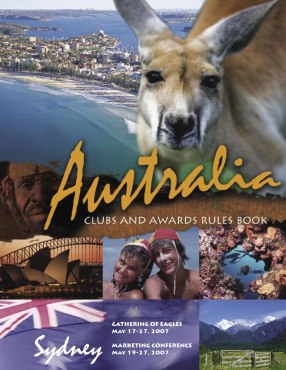 ANICO Clubs and Awards Rules Book. (Make so many sales and you won a trip to Australia!)