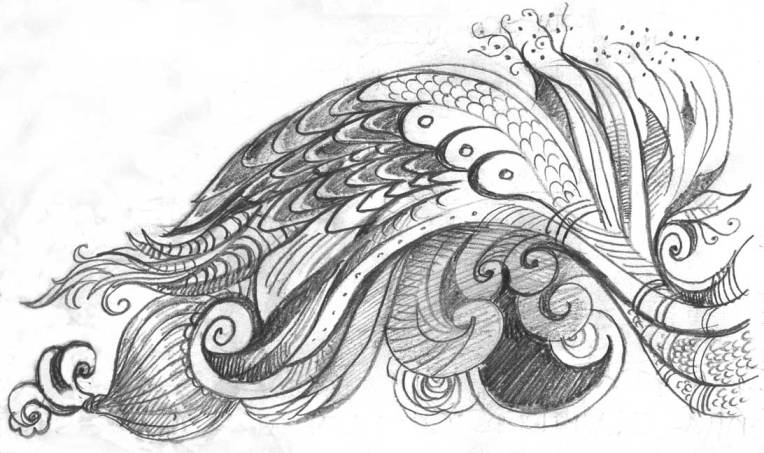 Feather-wave-doodle